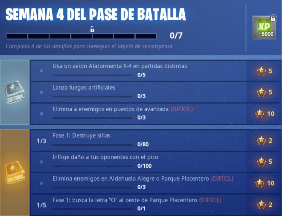 Fortnite Desafios De La Semana 4 De La Temporada 7 Gamer Style