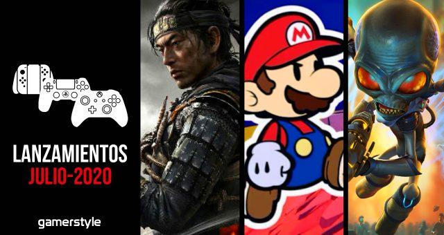 Lanzamientos videojuegos julio 2020